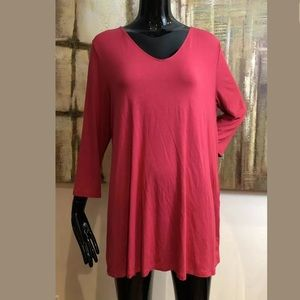 J. Jill Wearever Collection Button Back Top Large